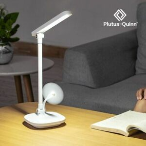 Rechargeable Led Desk Lamp Adjustable Brightness Reading Table Lamp Fan Bedroom
