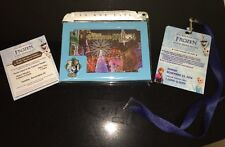 "Disney Hollywood Studio LE ""FROZEN"" Osborne Lights Lanyard,Pin & Lithograph 2014"