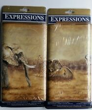 Expressions Safari Animals Wallpaper Border SB10173B 2 Packs Elephants Tigers