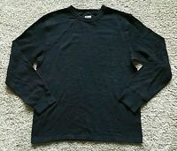 NWT Men's Black Long Sleeve Mossimo Crew Neck Top Small