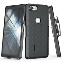 For Google Pixel 3 XL - Armor Shell Case Combo Belt Clip Holster Cover w
