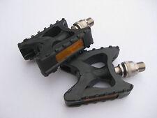MKS Ezy XP Pedale Kunststoff sehr robust Clip-On Citybike Pedals mit Reflektor