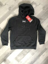 UNDER ARMOUR Boys Black Welsh Rugby Hoody Age 10-12 Years BNWT