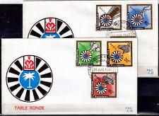 RWANDA FDC 66 67 - TABLE RONDE DE KIGALI - 1967 LUXE - ZEBRE ELEPHANT