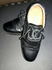 French Shriner French Mens Dress  Shoes Albany Oxford Lace-up 9M Black Leather