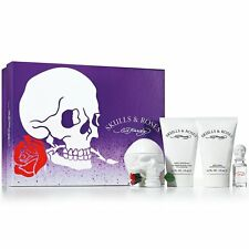 Ed Hardy Skull & Roses 100ml Edp Spray 4pcs Gift Set for Women