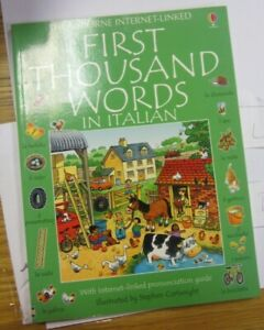 First Thousand Words in Italian by Usborne Very Good Condition