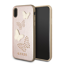 Genuine Guess Studs & Sparkles Butterfly Case for iPhone X in Rose Gold