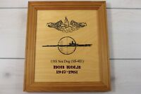 Vintage WWII Submariner Navy Veteran USS Sea Dog SS-401 Submarine Plaque Wooden