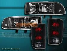 98 99 00-04 CHEVY BLAZER JDM BLACK HEADLIGHTS + TAIL LIGHT DARK BLACK NEW