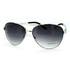 Mens Aviator Sunglasses Classic Metal Frame Fashion Shades Silver