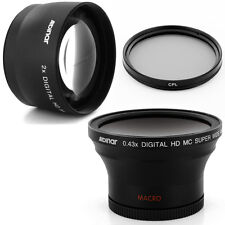 Albinar 58mm 0.43x Widefisheye, 2x Tele Lens,CPL Filter for Canon EF 50mm f/1.4