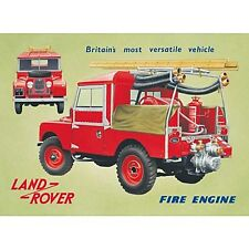 Land Rover Fire Engine Steel Wall Sign  410mm x 300mm   (fd)