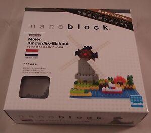 Kawada Nanoblock Molen Kinderdijk - Elshout building toy block NBH_043 Worldwide