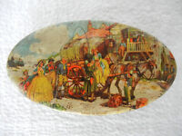 Vintage British People In Horse Cart Print Litho Tin Box