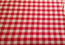 "Red Gingham Check Tablecloth Cloth 150x230cm 91x60"" Excellent Quality Cotton"
