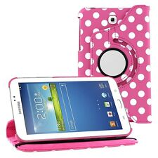 """Leather 360 Case Cover Skin for Samsung Galaxy Tab 3 7"""" 8"""" 10.1"""""""