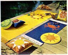 Vintage Sewing Pattern Outdoor Home Decor Beach Mats Pillows Mid Century Modern