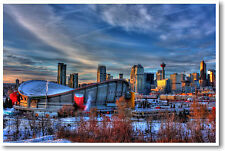 Calgary, Canada  - Art Print Travel City Saddledome Flames Hockey - NEW POSTER