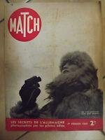 Paris match 1er fevrier 1940 les secrets de l'allemagne