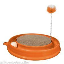 Catit Play 'n Scratch Katzenspielzeug, kreisförmige Cat Rückenkratzer Turbo Rückenkratzer Spielzeug Orange