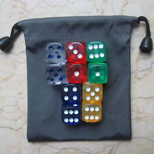 Lot of 10 Mix 6 Sided D6 16mm RPG D&D D20 Game Dice USS