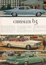1963 Chrysler New Yorker - '300' Convertible - Newport PRINT AD