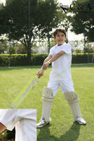 Kids Boys Girls Short Sleeve Cricket Top Polo Shirt & Cricket Pants Sports Suit