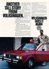 1981 VW Volkswagen Rabbit  Wilt Chamberlain Classic Vintage Advertisement Ad H99