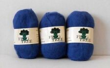 YARN - FROG TREE 100% SURI BRUSHED ALPACA BLUE YARN LOT OF 3 - MADE IN PERU NEW!