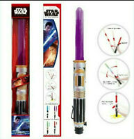 STAR WARS LIGHTSABER TOY WITH LED LIGHT SOUND INC BATTERIES 70CM LONG BOXED