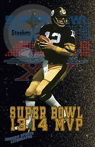 Pittsburgh Steelers Lithograph print of Terry Bradshaw Super Bowl 13 MVP 11 x 17
