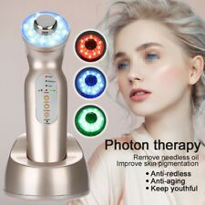 3 LED Light Therapy Photon Ultrasonic Skin Rejuvenation Face Care Massager ZM