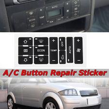 A/c pulsante riparare Decal Dash AC Switch Sticker ricambio per AUDI A2 A3 8L