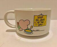 Vintage ZIGGY Soup Du Jour Of The Day Stoneware Mug 1980 Tom Wilson Soup Mug