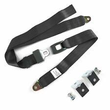 2pt Charcoal Standard Buckle Lap Seat Belt with Mounting Hardware SafTboy rat