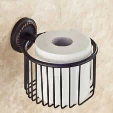Oil Rubbed Bronze Wall Mounted Bathroom Toilet Paper Towel Roll Tissue Holder