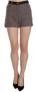 C'N'C COSTUME NATIONAL Shorts Plaid Black Leather Waist Mini IT40/US6/S RRP $200