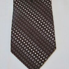 "Brooks Brothers Men's Silk Necktie Brown Geometric pattern 57 3/8"" X 31/4"""