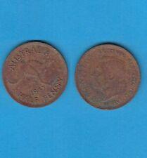 § Australie  Australia  Bronze Coin Georges VI One Half Penny Bronze 1947