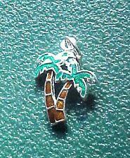 Vintage Miniature Silvertone Charm Palm Trees