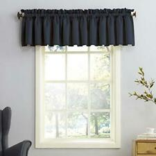 Barrow Energy Efficient Rod Pocket Curtain Valance, 54 x 18, Navy Blue