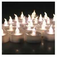 6/24 LED Warm White Flicker Tealight Electronic Timing Candles Lights with Timer