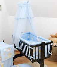 Baby Canopy + Holder for Rocking Crib/ Swinging Crib / Cradle/ Moses Basket Blue