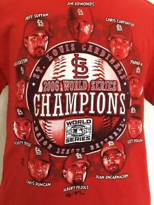2006 World Series Champions St. Louis Cardinals MLB Red Short Sleeve T-Shirt