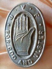 Ulster Volunteer Force UVF Irish Cap Badge  WM Slider ANTIQUE Original