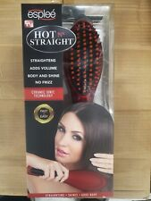 Esplee Hot N Straight Hair Straightening Brush red Frizz Control Electric Comb
