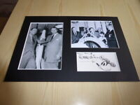 Wernhern von Braun & Walt Disney mounted photographs preprint autograph signed