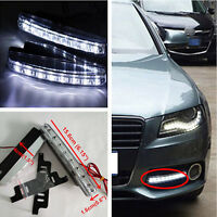 2x 12V 8-LED DRL Euro Style Front Bumper Grille Daytime Running Light For Lexus