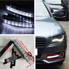 2x 8 LED Daytime Running Light DRL Fog Lamp Lights Daylight For Audi A6 S6 Q5 Q7